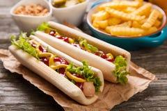 tło być prześladowanym fasta food gorącej etykietki starego papierowego rocznika Zdjęcia Stock