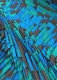 Tło Ceglany Błękitny abstrakt Zdjęcie Royalty Free