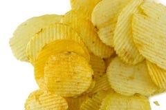 tło chip ziemniaka obraz żywności fiutka szereg białych zdjęcie royalty free