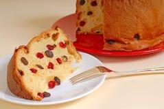 tło chlebowych święta panettone tan włoski Fotografia Stock