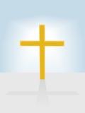 tło chrześcijanina krzyża radianta błękitny niebo royalty ilustracja