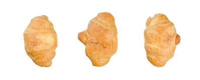 tło croissants odizolowywali biel obraz stock