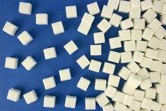 Tło cukrowi sześciany Obraz Stock
