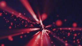 Tło cząsteczki czerwone zdjęcie wideo