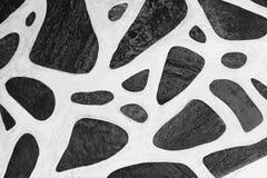 Tło czarny i biały kamienna tekstura Zdjęcia Royalty Free