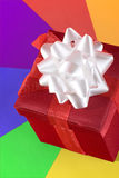 tło czerwień pudełkowata kolorowa Obrazy Royalty Free