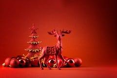 tło czerwień Rudolf Zdjęcia Stock