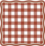 Tło czerwona i biała komórka tablecloth obraz stock