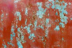 Tło czerwonobrunatny metalu liść Fotografia Royalty Free