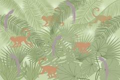 tło dżungla Obraz Royalty Free