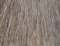 Tło dach, sucha trawa lub siano pokrywający strzechą, Tekstura wysuszona trawa Obrazy Royalty Free