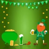 Tło dadicated St Patrick ` s dnia wakacje royalty ilustracja