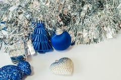 Tło dekorujący nowy rok i boże narodzenia Zdjęcie Stock