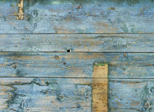 Tło desek stara wietrzejąca błękitna zieleń zdjęcie stock
