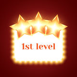 Tło dla gry z Błyszczącymi gwiazdami Zdjęcie Royalty Free