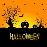 Tło dla Halloweenowych świętowań Zdjęcie Stock