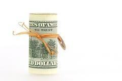 tło dolar Zdjęcie Stock