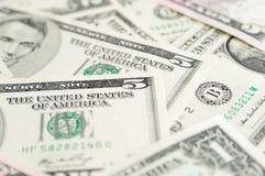 Tło dolarowi banknoty. Zdjęcia Royalty Free