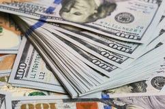 Tło dolarowych rachunków zamknięty up Obrazy Stock