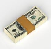 tło dolary odizolowywali my biały Zdjęcia Royalty Free
