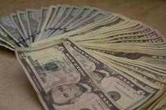 tło dolary odizolowywali my biały Fotografia Stock