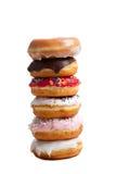 tło donuts brogują biel obraz royalty free