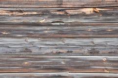 Tło drewniane stare deski czernić Zdjęcia Stock