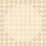 Tło druku powtórkowi stylizowani kwiaty Rama z przestrzenią dla teksta Brown, beżowy kolor Zdjęcie Royalty Free
