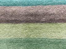 Tło dywanowa tkanina w zakończeniu up struktura dywanowa tło szeregu Obraz Stock