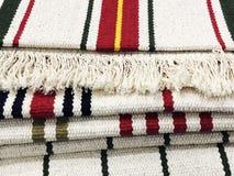 Tło dywanowa tkanina w zakończeniu up struktura dywanowa tło szeregu Zdjęcie Royalty Free
