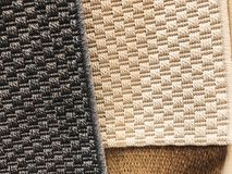 Tło dywanowa tkanina w zakończeniu up struktura dywanowa tło szeregu Zdjęcie Stock
