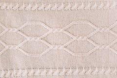 tło dziający dziewiarski wzór wełna _ Tekstura trykotowa woolen tkanina dla tapetowego i abstrakcjonistycznego tła obrazy royalty free