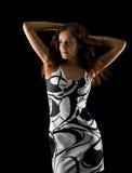 tło dziewczyna piękna czarny Zdjęcie Stock