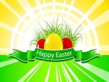 tło Easter szczęśliwy Zdjęcia Royalty Free