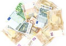 tło euro zrobił pieniądze Zdjęcie Royalty Free