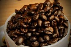 tło fasoli piękną kawową kuchni powiązana konsystencja Obrazy Royalty Free