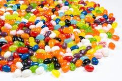 tło fasoli słodyczami galaretki white Zdjęcie Stock