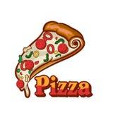 tło fast - pizzy obrazu szereg białych Pizza odizolowywający przedmiot Zdjęcia Royalty Free
