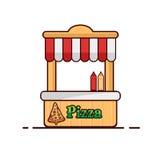 tło fast - pizzy obrazu szereg białych Pizza odizolowywający przedmiot Obraz Stock