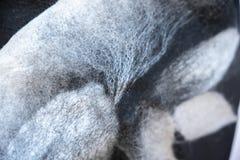Tło filc drapuje czerni popielaty dekoracyjnego, projekt, element fotografia royalty free