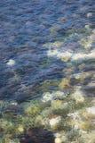 tło fiordów morza promieni słońca Obrazy Royalty Free