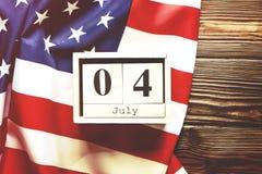 Tło flaga Stany Zjednoczone Ameryka dla krajowego federacyjnego wakacyjnego świętowania dzień niepodległości USA symbolics zdjęcia royalty free
