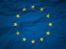 tło flagi europejskiej europejskim crunch Obrazy Royalty Free