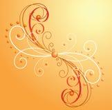 tło fryzuje pomarańcze Fotografia Royalty Free