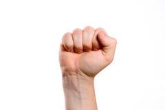 tło gesturings ręki odosobniony biel Obrazy Stock