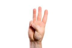 tło gesturings ręki odosobniony biel Obraz Stock