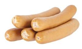tło gotować się psie gorące kiełbasy biały Obraz Royalty Free