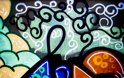 tło graffiti ścianę Obraz Royalty Free