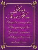 tło graniczyć złociste uświęcone purpury Zdjęcia Stock
