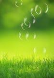 tło gulgocze zielonego mydło Fotografia Royalty Free